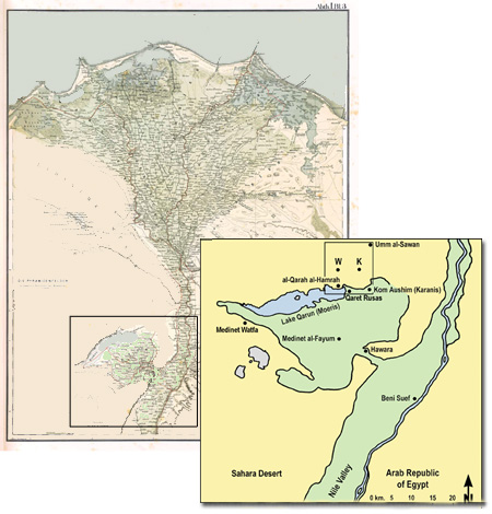 Fayum Project URU - Map of fayoum egypt